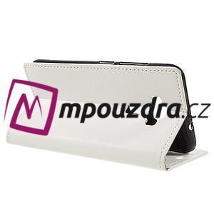 Leathy peňaženkové puzdro na Asus Zenfone 3 ZE520KL - biele - 5