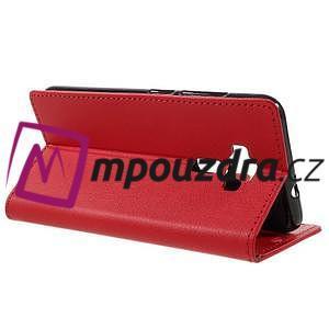Leathy peňaženkové puzdro pre Asus Zenfone 3 ZE520KL - červené - 5