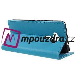 Leathy peňaženkové puzdro pre Asus Zenfone 3 ZE520KL - svetlomodré - 5