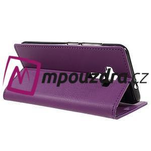 Leathy peňaženkové puzdro na Asus Zenfone 3 ZE520KL - fialové - 5