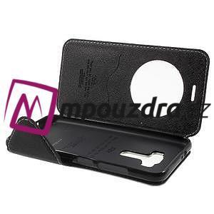 Diary puzdro s okýnkem na mobil Asus Zenfone 3 ZE520KL - biele - 5