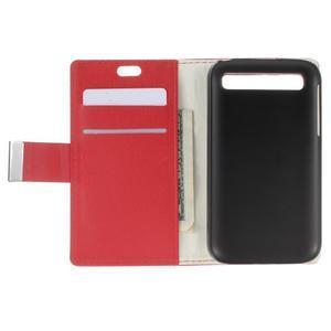 Peňaženkové puzdro pre mobil BlackBerry Classic - červené - 5