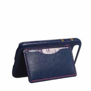 PU kožený kryt se stojánkem na BlackBerry Classic - modré - 5