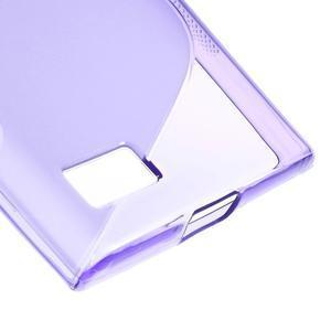 S-line gélový obal pre mobil BlackBerry Leap - fialový - 5