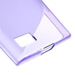 S-line gelový obal na mobil BlackBerry Leap - fialový - 5