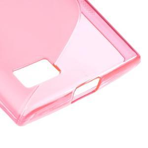 S-line gélový obal pre mobil BlackBerry Leap - rose - 5