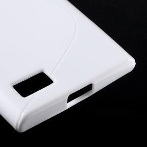 S-line gélový obal pre mobil BlackBerry Leap - biely - 5