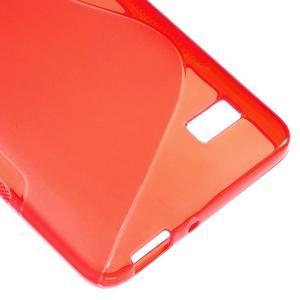S-line gelový obal na mobil Honor 4C - červený - 5
