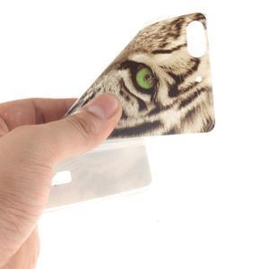 Gélový obal pre mobil Honor 4C - biely tiger - 5