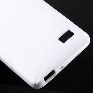S-line gélový obal pre mobil Honor 4C - biely - 5