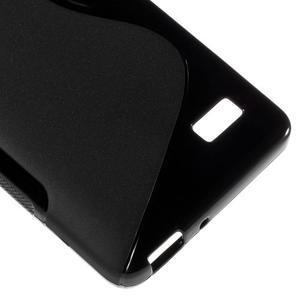 S-line gélový obal pre mobil Honor 4C - čierny - 5