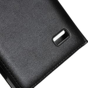 PU kožené puzdro s okienky pre Honor 4C - čierné - 5