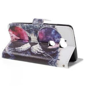PU kožené puzdro pre mobil Honor 5X - cool mačka - 5