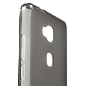 Matný gélový obal pre mobil Honor 5X - šedý - 5