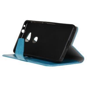 Horse peněženkové koženkové pouzdro na Huawei Honor 5X - modré - 5