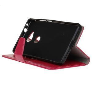 Horse peněženkové koženkové pouzdro na Huawei Honor 5X - rose - 5