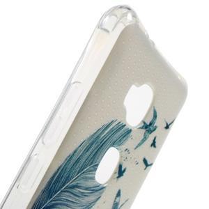 Drop gelový obal na Huawei Honor 5X - modré peříčko - 5