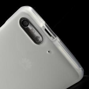 Matné gélové puzdro na Huawei Ascned G6 - biele - 5