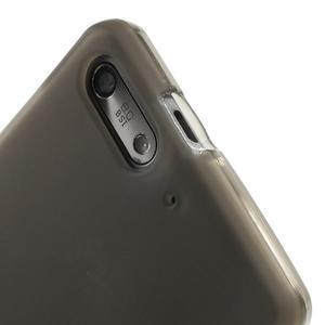 Matné gélové puzdro na Huawei Ascned G6 - sivé - 5