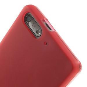 Matné gélové puzdro na Huawei Ascned G6 - červené - 5