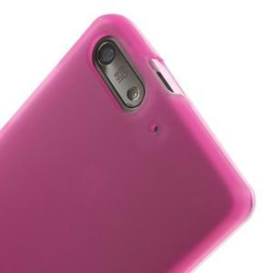 Matné gélové puzdro na Huawei Ascned G6 - rose - 5