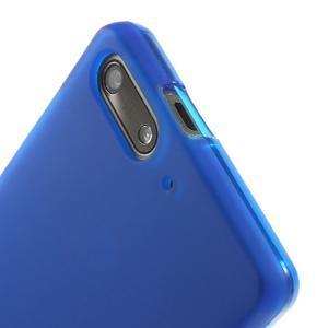 Matné gélové puzdro na Huawei Ascned G6 - modré - 5