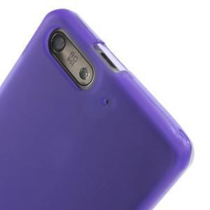 Matné gélové puzdro na Huawei Ascned G6 - fialové - 5