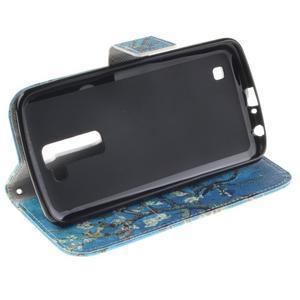 Peňaženkové puzdro pre mobil LG K10 - kvitnúce strom - 5