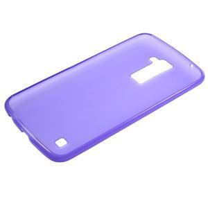 Matný gelový kryt na LG K10 - fialový - 5