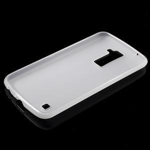 Matný gélový kryt pre LG K10 - transparentný - 5