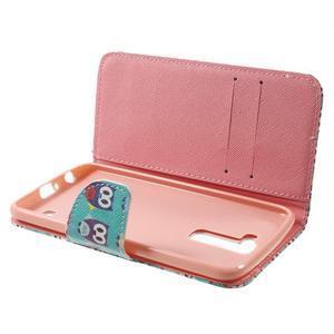 Wall peňaženkové puzdro pre LG K10 - malej sovy - 5