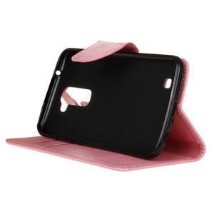 Horse PU kožené puzdro pre LG K10 - ružové - 5