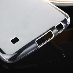 Stter matný gélový obal pre mobil LG K10 - biely - 5