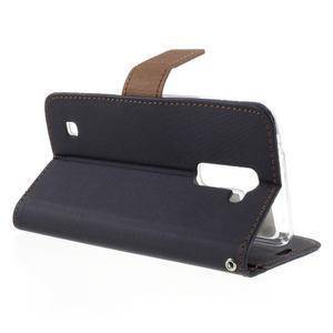 Style PU kožené puzdro pro LG K10 - čierne - 5