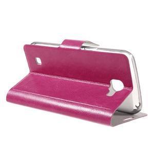 Horse PU kožené puzdro pre mobil LG K4 - rose - 5