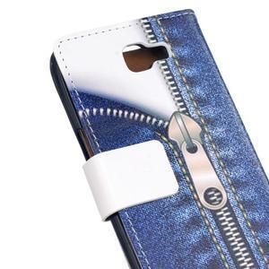 Style peňaženkové puzdro pre LG K4 - jeans - 5