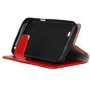 Leat peňaženkové puzdro pre LG K4 - červené - 5