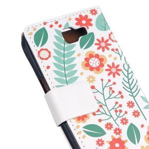 Style peňaženkové puzdro pre LG K4 - kvetinová koláž - 5