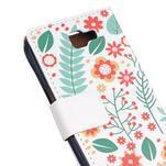 Style peněženkové pouzdro na LG K4 - květinová koláž - 5/5