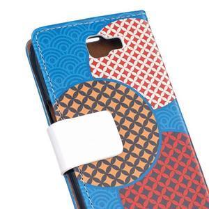 Style peňaženkové puzdro pre LG K4 - kruhy - 5