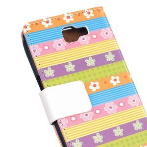 Style peňaženkové puzdro pre LG K4 - farebné kvetiny - 5