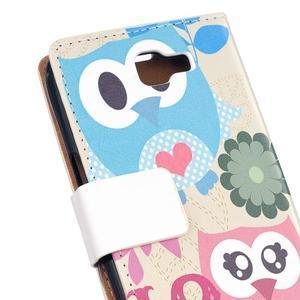 Style peňaženkové puzdro pre LG K4 - zamilované malej sovy - 5