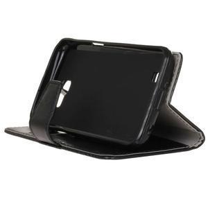 Leat peněženkové pouzdro na LG K4 - černé - 5