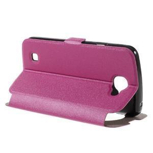 Trend puzdro s okienkom na mobil LG K4 - rose - 5