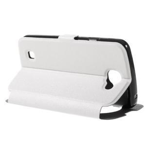 Trend puzdro s okienkom na mobil LG K4 - biele - 5