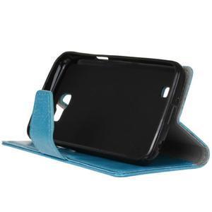 Leat peněženkové pouzdro na LG K4 - modré - 5