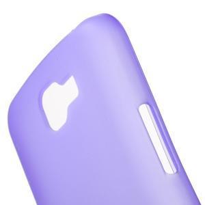 Antfing matný gélový kryt pre LG K4 - fialový - 5