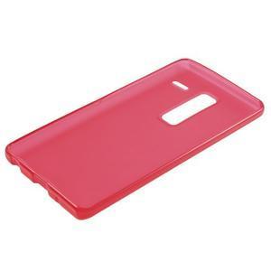 Matný gelový obal na mobil LG Zero - červený - 5