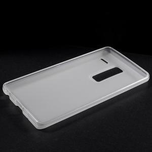 Matný gélový obal pre mobil LG Zero - biely - 5