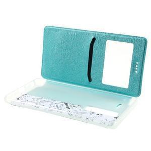Cross peněženkové pouzdro s okýnkem na LG Zero - modré - 5